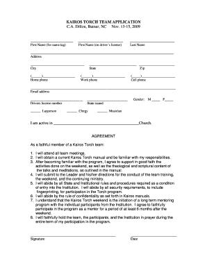 on volunteer application form printable for kairos