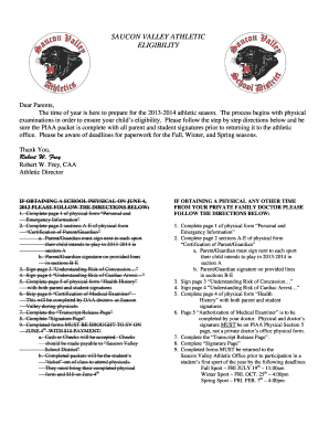 Fillable Online svpanthers Saucon Valley / PIAA Physical Form ...
