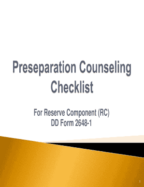 Fillable Online For Reserve Component (RC) DD Form 2648-1 - taa ...