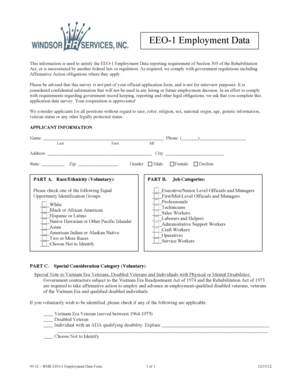 Fillable Online ontracinc WHR EEO-1 Employment Data Form 1 of - On ...
