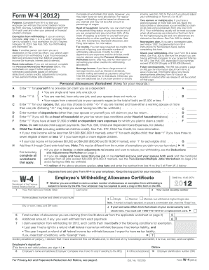 New W-4 (Federal) & DE 4 State) Forms