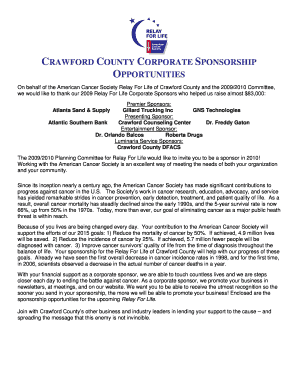 2010 Crawford Corp Sponsor Letter-Form - Relay For Life