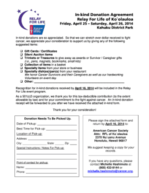 Relay for life silent auction donation forms Fill Online, Printable ...