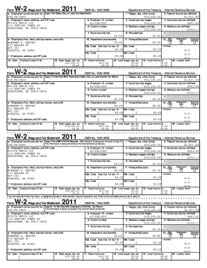 Omb No 1545 0008 For Tax Year 2011 Fill Online Printable