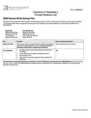 mgm resorts 401k MGM Resorts 401(k) Savings Plan Fill Online, Printable, Fillable ...