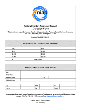 Donation Form - National Iranian American Council (NIAC)