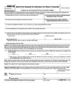 Fillable Online Transcript Request Form - Lusk Tax Service, LLC ...
