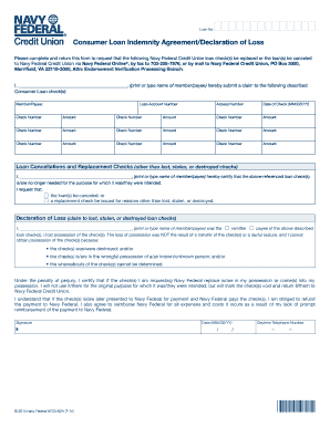 Consumer Loan Indemnity Agreement ... - Navy Federal Credit Union - navyfederal