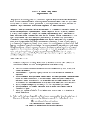 Sample Conflict of Interest Policy and disclosure form-1.PDF