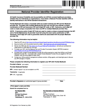 Fillable Online NPI Registration Form - Easter Seals Fax Email ...