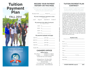 Tuition Payment Plan (PDF) - Ocean County College - ocean