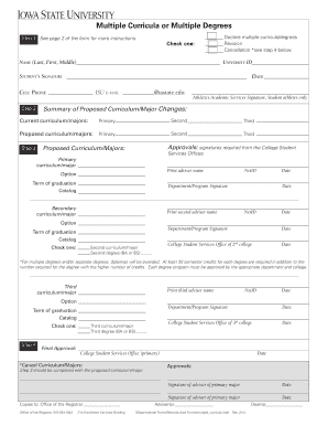 Multiple page business letter example edit fill out top online multiple curricula or multiple degrees pdf the office of the registrar spiritdancerdesigns Image collections