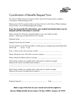 Fillable Online Aetna Coordination of Benefits Request Form ...