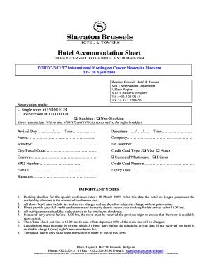 Sheraton hotel reservation form fill online printable fillable sheraton hotel reservation form thecheapjerseys Gallery