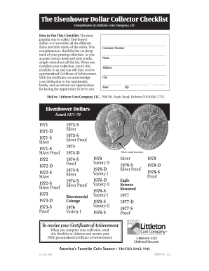 image regarding Printable Coin Checklist titled Coin Gathering Listing - Fill On the net, Printable, Fillable