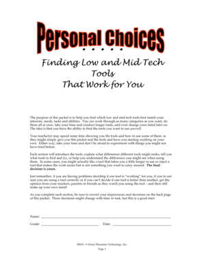 Personal Choices - hcschools