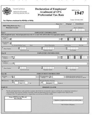 Bir Form 1947 - Fill Online, Printable, Fillable, Blank