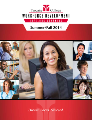 Summer/Fall 2014 Course Catalog - Trocaire College