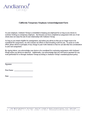 Temporary Employee Acknowledgement Form.doc