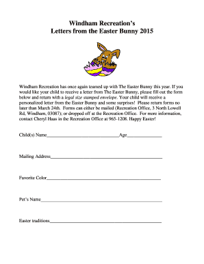Easter bunny letter template forms fillable printable for Letter to easter bunny template