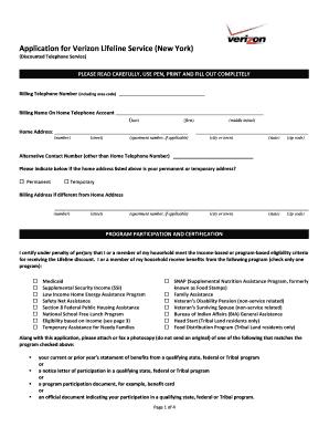 37980098 Verizon Lifeline Application Form on