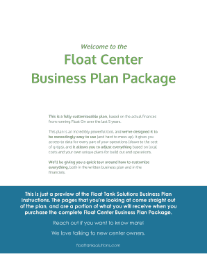 Market analysis business plan forms and templates fillable welcome to the float center business plan package cheaphphosting Images