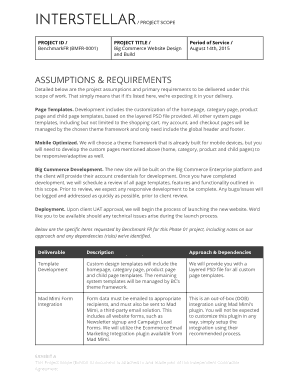 Scope of work template for website development - Fill Out Online ...