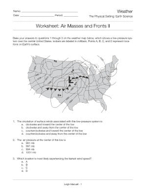 Fillable Online 7.4 Air Masses and Fronts (2) - earthtoleigh.com Fax ...