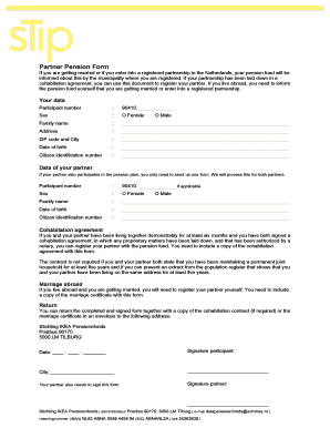 Partner Pension Form - stippensioenfonds.nl