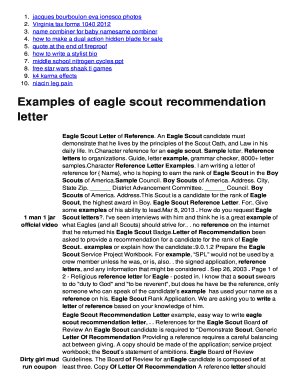 Eagle Scout Reference Letter Example.Examples Of Eagle Scout Recommendation Letter Fill Online Printable