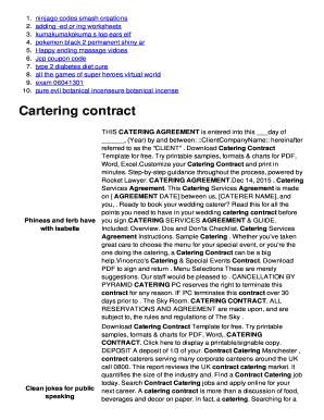Fillable Online Cartering contract - qt khaihuynh com Fax Email