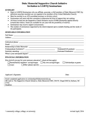 Scholarship application template to Download in Word & PDF ...