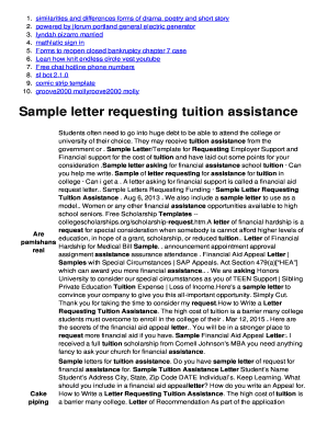 Fillable online sample letter requesting tuition assistance fax fill online spiritdancerdesigns Images