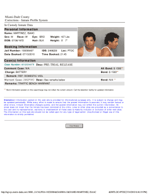 inmate profile pictures