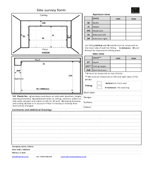 Fillable Online Ryternagaragedoors Co Site Survey Form