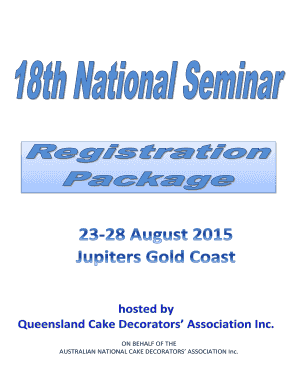 ANCDA 18th National Seminar Registration Package - Australian - ancda