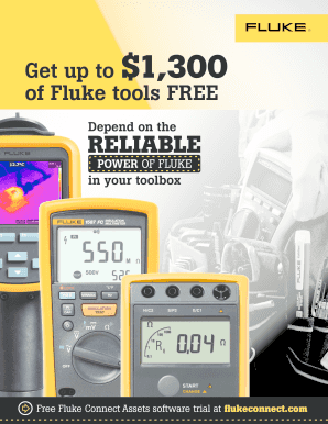 Fillable Online Get up to $1,300 of Fluke tools FREE Depend