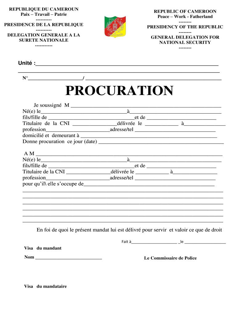 CM Procuration - Fill and Sign Printable Template Online ...