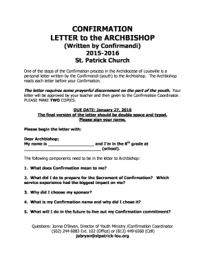Employment confirmation letter template doc forms fillable confirmation letter to the archbishop stpatrick lou thecheapjerseys Gallery