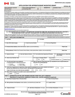 Confirmation of Progress for the Apprenticeship Incentive Grant Fill