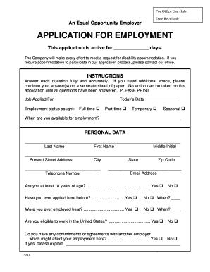 fillable online application for employment bridgeway recovery