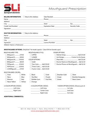 custom work order forms