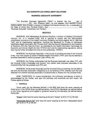 8 Printable Hipaa Business Associate Agreement Template 2017