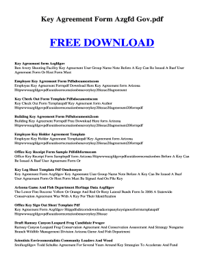 key agreement form azgfd gov pdf key agreement form azgfd gov pdf