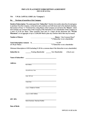 Editable Private Placement Memorandum Pdf Fill Out Print
