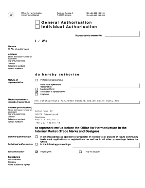Fillable Online Knh Patent Form General Authorisation