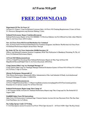 Fillable Online kutukupret 96 AF FORM 910 PDF. AF FORM 910 PDF Fax ...