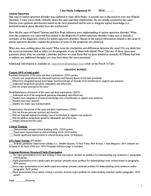 Printable case study format in psychology pdf Templates to Submit