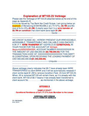 Explanation of MT103.23 Verbiage - PAK MARINE LTD