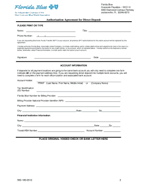 sample letter requesting deposit payment electronic funds transfer form bcbsflorg